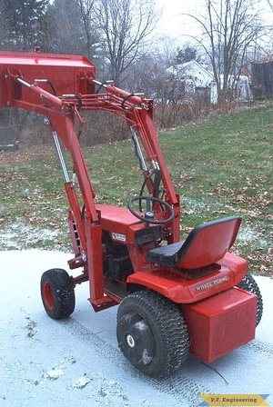 Burt T. in Hallowell, ME built this nice looking loader for his WheelHorse garden tractor 1
