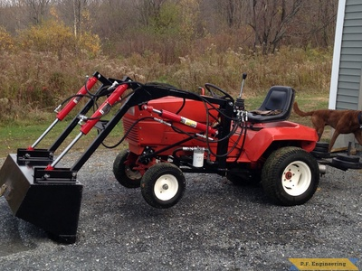 Gravely loader lifting front end by Grant R., Milton, VT