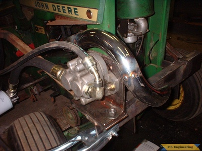 John Deere 110 loader custom exhaust by Jerry