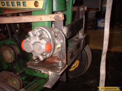 John Deere 110 loader pump mount by Jerry
