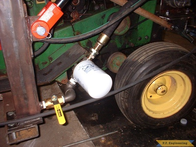 John Deere 110 loader return filter by Jerry