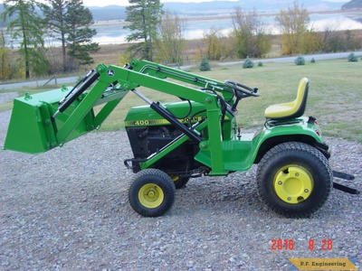 John Deere 400 loader by John S., Kila, MT