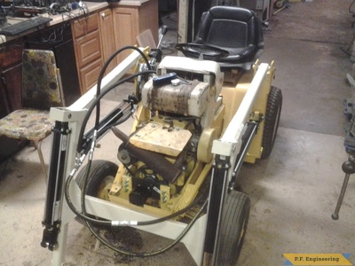 Cub Cadet 149 loader build by Kevin K.