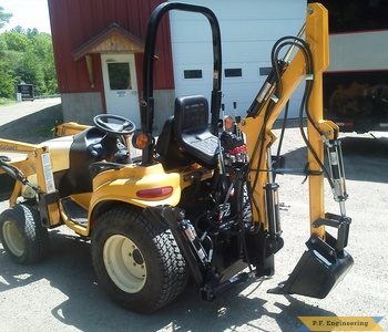 Cub Cadet 7264 Micro Hoe rear view by Kevin P., Pittsfield, NH