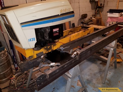 Cub Cadet 1430 loader getting new frame by Kyle H., Minneapolis, MN