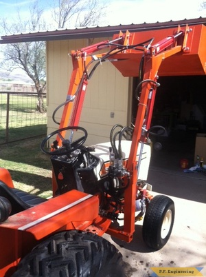 simplicity powermax 9020 compact tractor loader right rear view