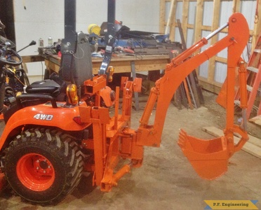 Kubota BX 2370 Micro Hoe right side by Rob A., Hadley, MA