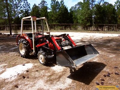 Yanmar YM1720D by Sam D. in Camden, S.C. with p.f.engineering front end loader front right view