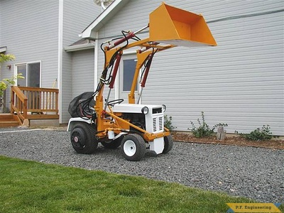 Gilson 16 HP garden tractor front end loader_4