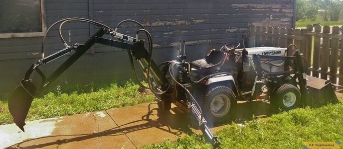 Sears Craftsman garden tractor backhoe_1